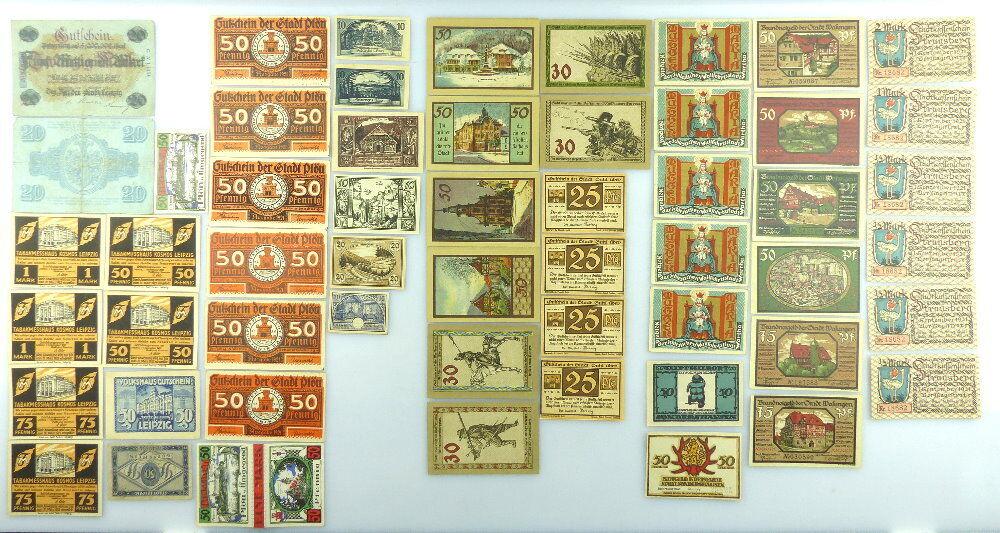 Verschiedene Serien Notgeld - 55 Scheine - Wasungen, Suhl etc. e1004