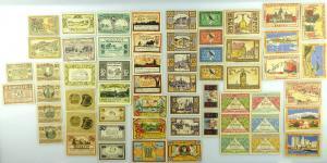Verschiedene Serien Notgeld - 58 Scheine z.B. Bremen, Pyritz etc. e1003