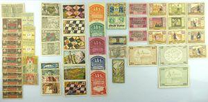 Verschiedene Serien Notgeld - 57 Scheine z.B. Freiburg, München etc. e1002
