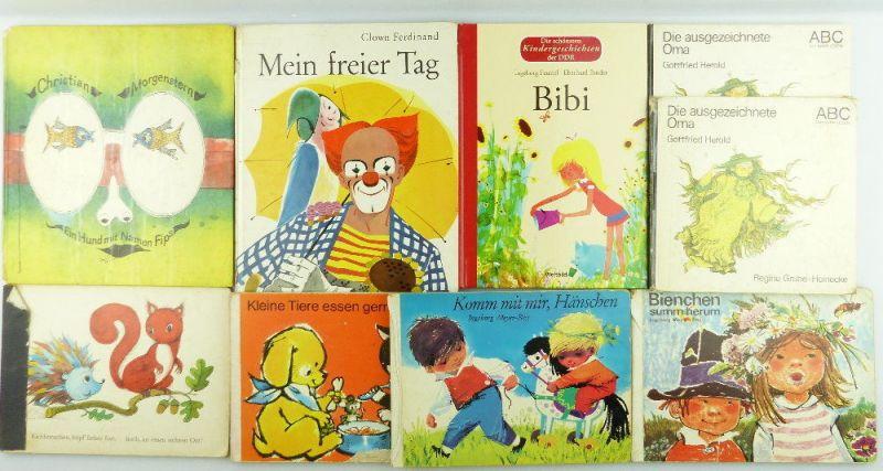 9 DDR Kinderbücher: Kleine Tiere essen gern, komm mit mir Hänschen... e1001