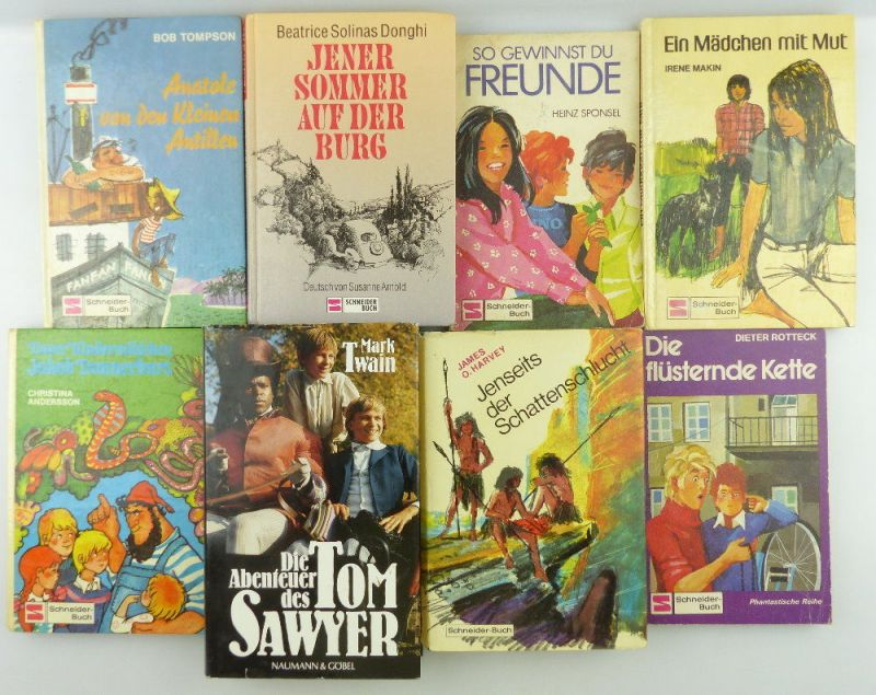 8 Kinderbücher /Jugendbücher: Die flüsternde Kette, Ein Mädchen mit Mut...e994