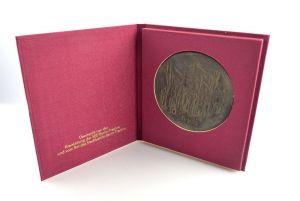 #e4127 Signierte Bronze Plakette 30 siegreiche Jahre DDR 1949 - 1979 SED Treptow