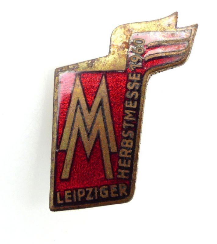 #e2411 MM Leipziger Herbstmesse 1960 Abzeichen DDR