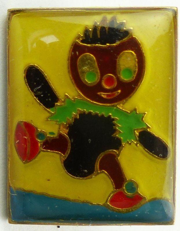 #e7994 Original altes DDR Abzeichen / Anstecknadel Pittiplatsch gelb