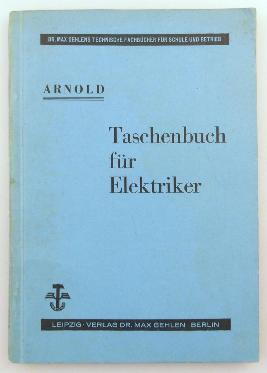 E9621 Altes Buch Taschenbuch für Elektriker Fachbuch Auflage 3