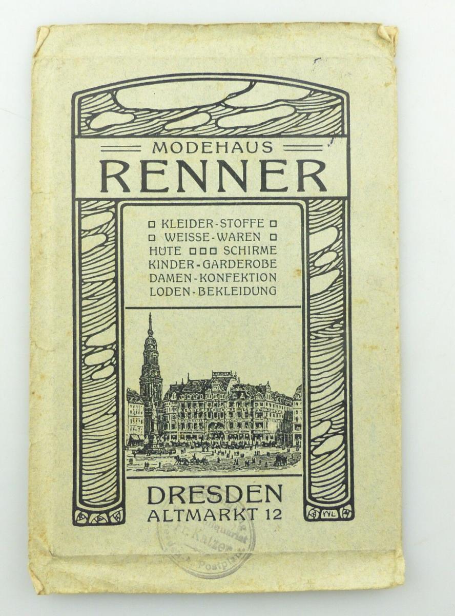 E9619 Kleiner Plan von Dresden mit Straßenverzeichnis Meinhold und Söhne 2