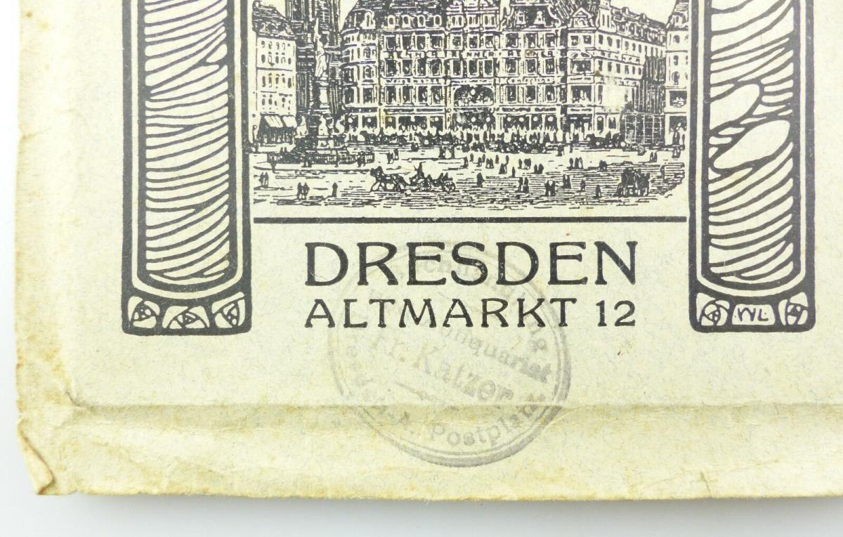 E9619 Kleiner Plan von Dresden mit Straßenverzeichnis Meinhold und Söhne 3