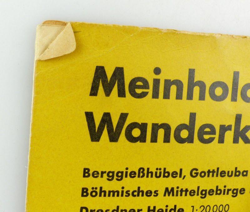E9618 Meinhold Wanderkarte Elbsandstein Gebirge Maßstab 1:75000 kleine Ausgabe 2