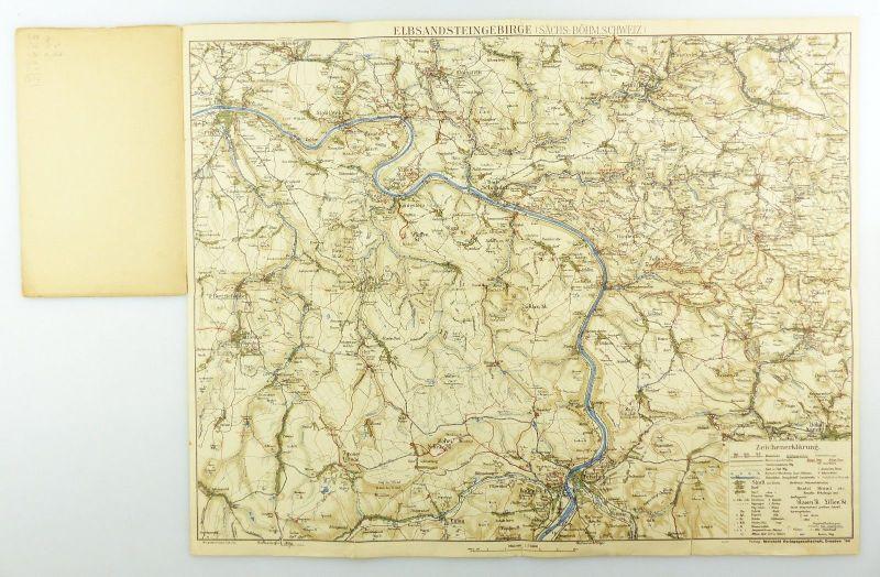 E9618 Meinhold Wanderkarte Elbsandstein Gebirge Maßstab 1:75000 kleine Ausgabe 3