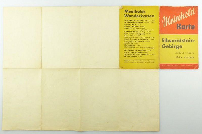 E9618 Meinhold Wanderkarte Elbsandstein Gebirge Maßstab 1:75000 kleine Ausgabe 4