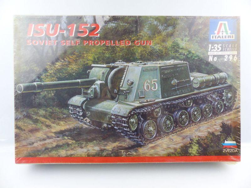 #e3139 Modell Bausatz Italeri OVP 296 sowjetische Selbstfahrlafette Maßstab 1:35