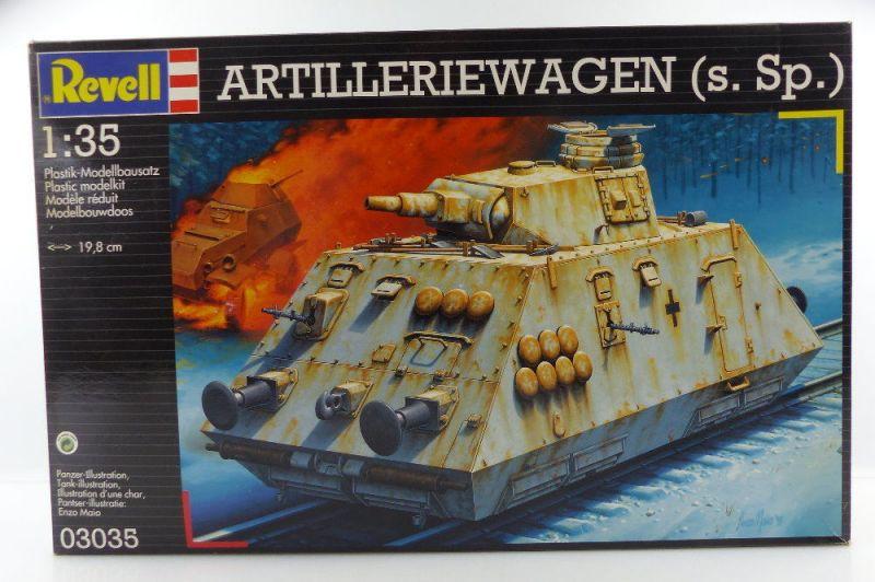 #e3142 Modell Bausatz Revell 03035 Artilleriewagen (s.Sp.) Maßstab 1.35
