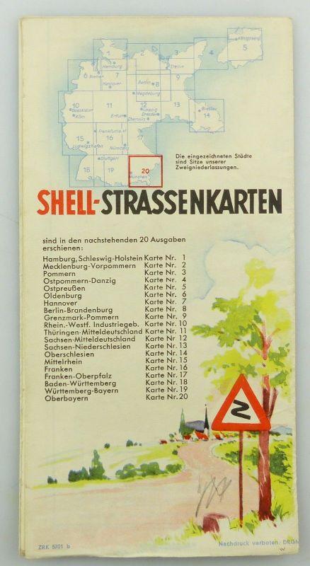 E9616 Shell Reisedienst Straßenkarte Nr 20 Oberbayern Obersee 1