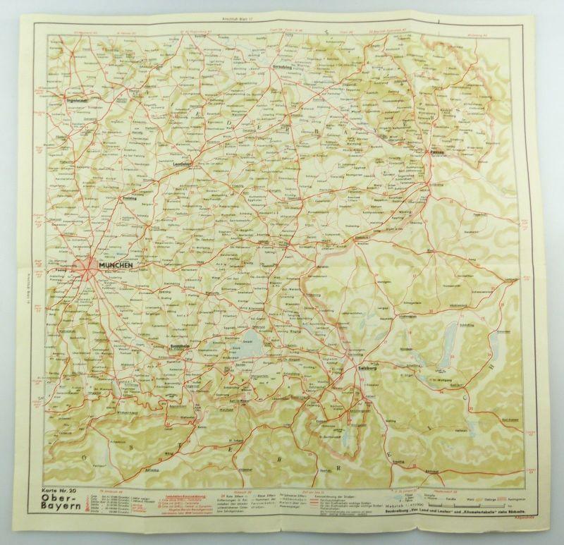 E9616 Shell Reisedienst Straßenkarte Nr 20 Oberbayern Obersee 4