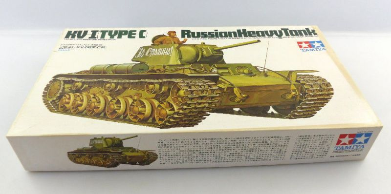 #e3135 Modell Bausatz Tamiya 35066 Russischer schwerer Panzer 1:35 KV I Type C