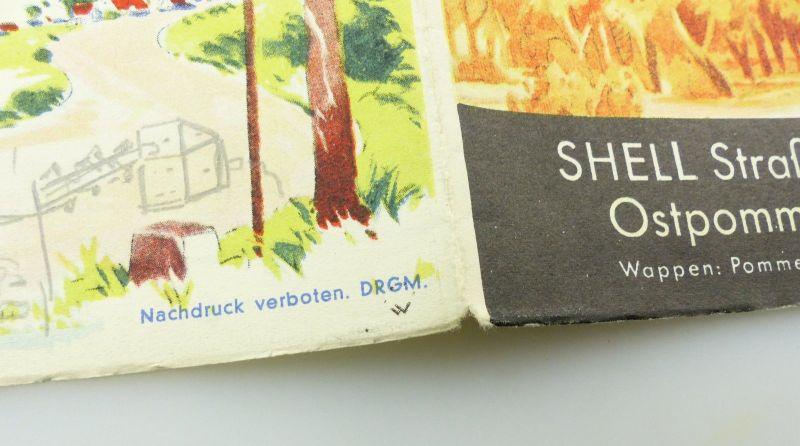 E9610 Alte Shell Straßenkarte Nummer 4 Ostpommern Danzig 4