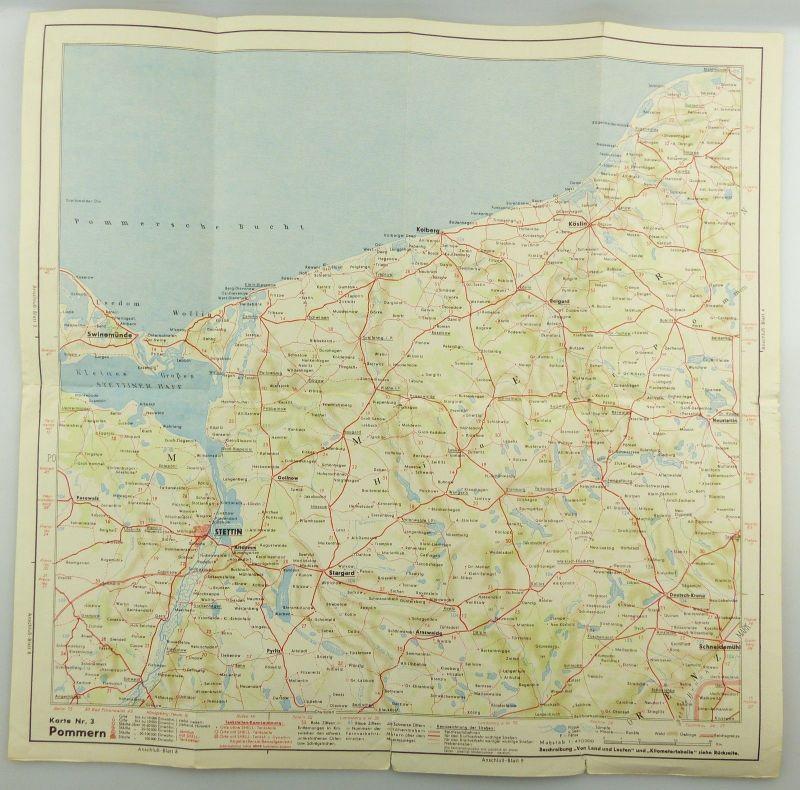 E9609 Alte Shell Straßenkarte Nummer 3 Pommern Steilküste auf Rügen 4