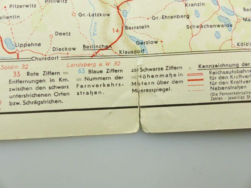 E9609 Alte Shell Straßenkarte Nummer 3 Pommern Steilküste auf Rügen 5
