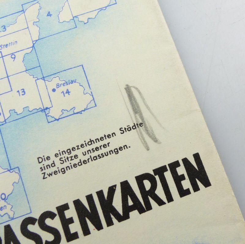 E9604 Alte Shell Straßenkarte Nummer 7 Hannover Braunschweig Schaumburg Lippe 2