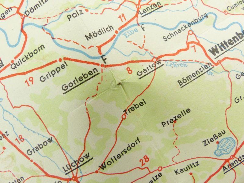 E9604 Alte Shell Straßenkarte Nummer 7 Hannover Braunschweig Schaumburg Lippe 4