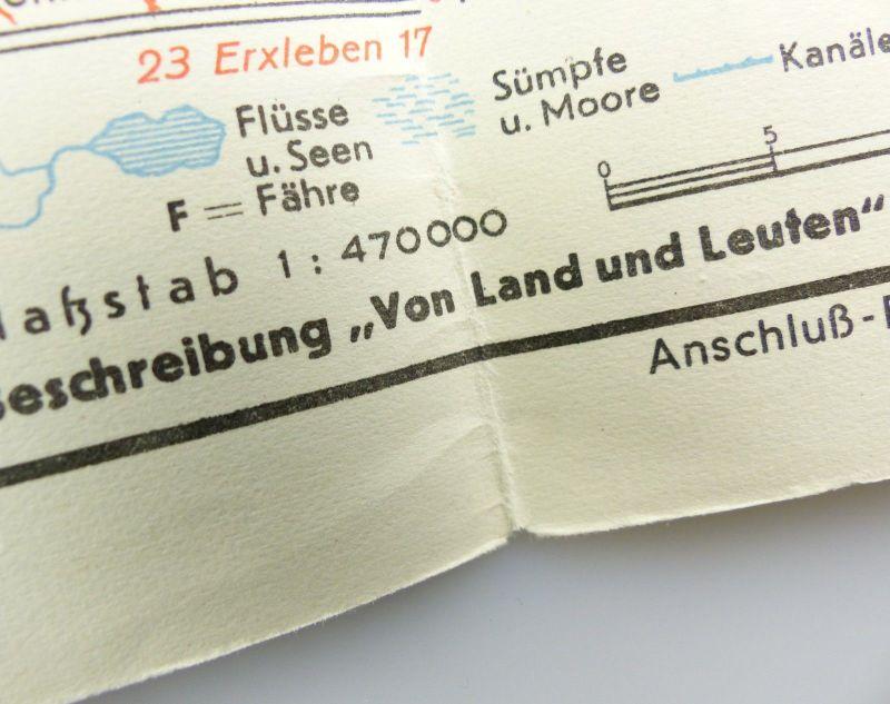 E9604 Alte Shell Straßenkarte Nummer 7 Hannover Braunschweig Schaumburg Lippe 5