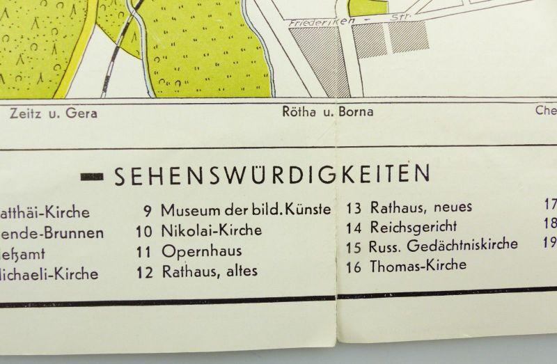 E9602 Alte Shell Stadtkarte Nummer 5 Leipzig Völkerschlachtdenkmal 4
