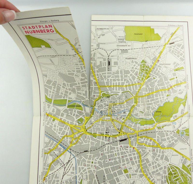 E9601 Alte Shell Stadtkarte Nummer 15 Nürnberg 3