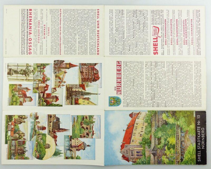 E9601 Alte Shell Stadtkarte Nummer 15 Nürnberg 5