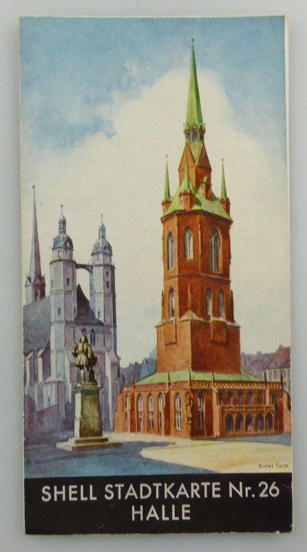 E9598 Alte Shell Stadtkarte Nummer 26 Halle 0