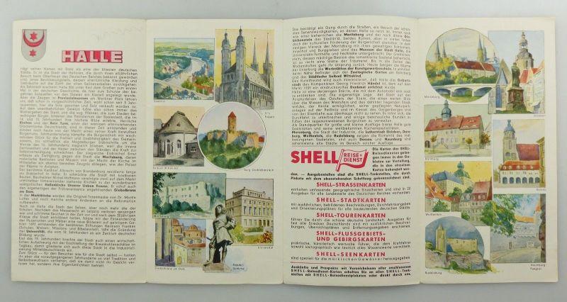 E9598 Alte Shell Stadtkarte Nummer 26 Halle 2