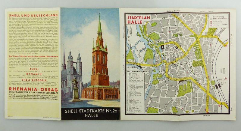 E9598 Alte Shell Stadtkarte Nummer 26 Halle 3