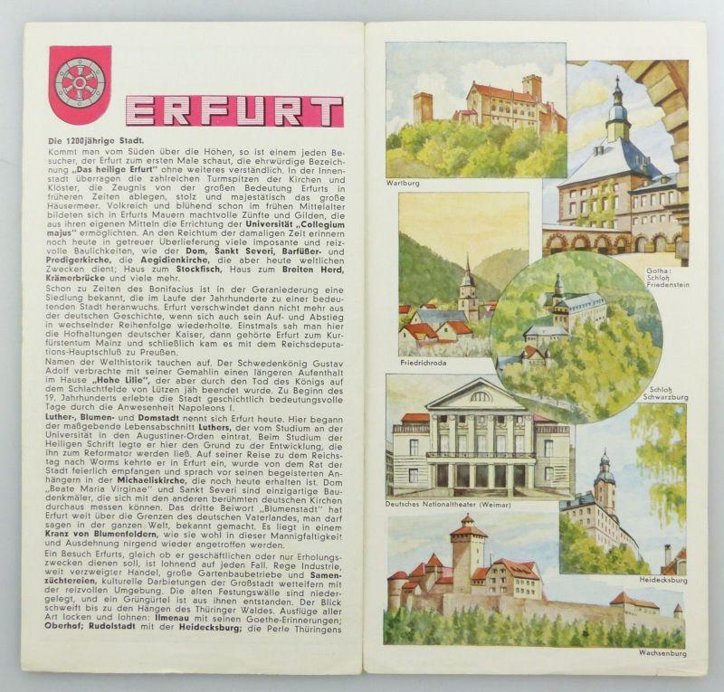E9594 Alte Shell Stadtkarte Nummer 36 Erfurt 3