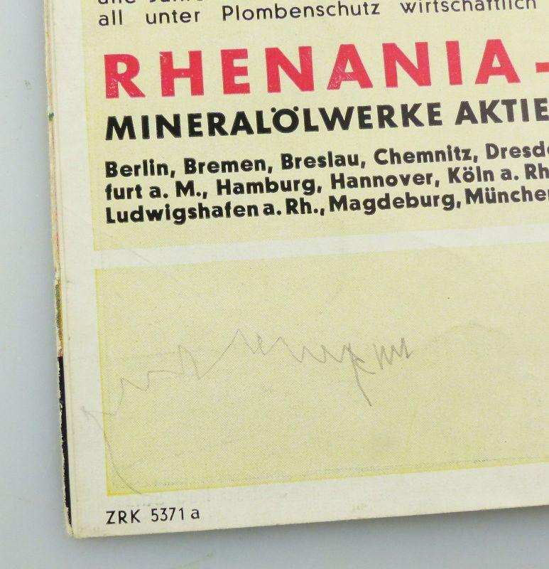 E9593 Alte Shell Stadtkarte Nummer 71 Weimar 2