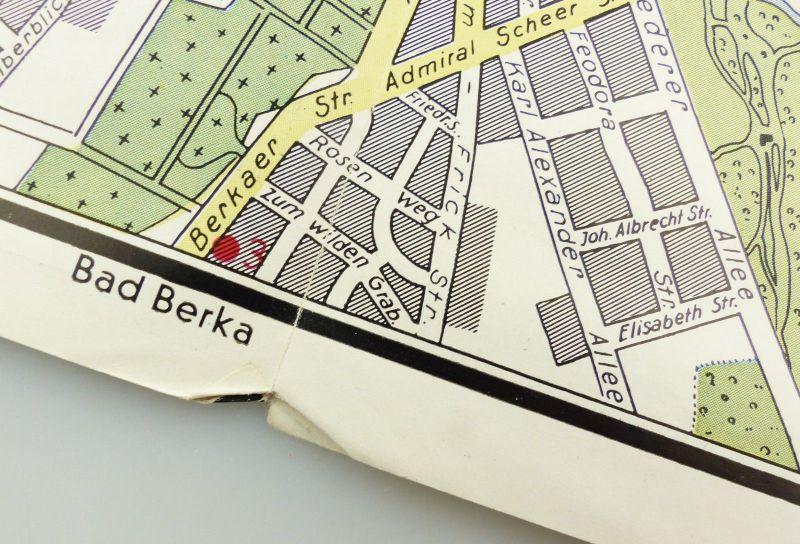 E9593 Alte Shell Stadtkarte Nummer 71 Weimar 4