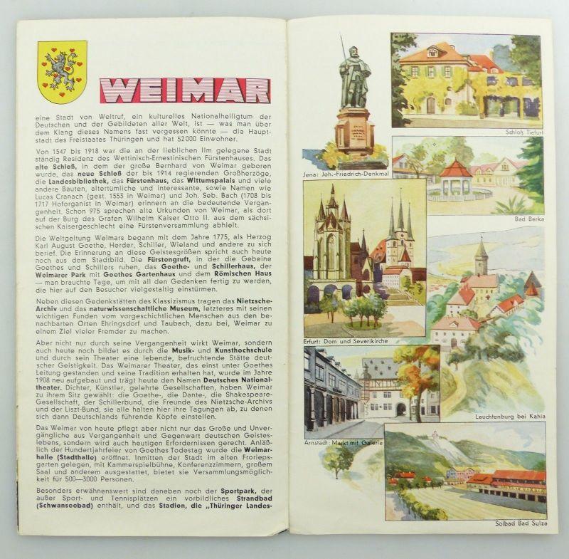 E9593 Alte Shell Stadtkarte Nummer 71 Weimar 5