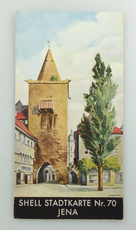 E9592 Alte Shell Stadtkarte Nummer 70 Jena DRGM