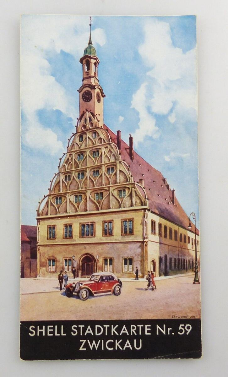 E9591 Shell Stadtkarte Nummer 59 Zwickau DRGM