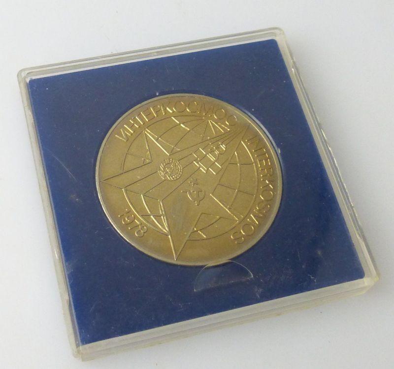 Medaille : Interkosmos Sojus 31- Salut 6 Oberst Bykowski,26.08.1978  / r191
