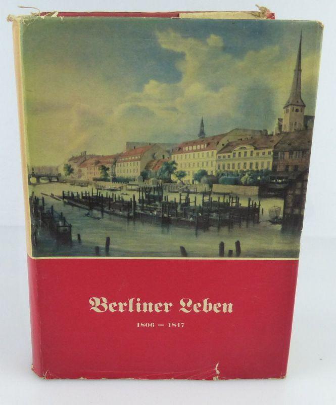 Buch: Berliner Leben, Verlag Rütten& Loening 1954 /rebu004