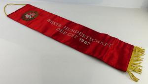 Fahnenschleife: Beste Hundertschaft der GST 1987 Für hervorragende Le, Orden2809
