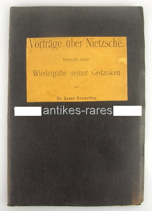 Vorträge über Nietzsche, Versuch einer Wiedergabe seiner Gedanken 1902