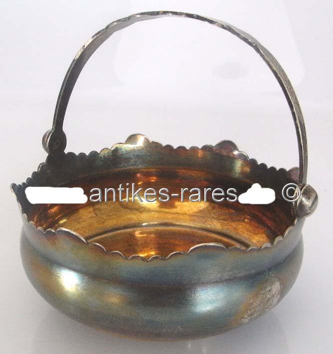 Alte russische Silberschale in 875 (Ag) Silber mit Henkel