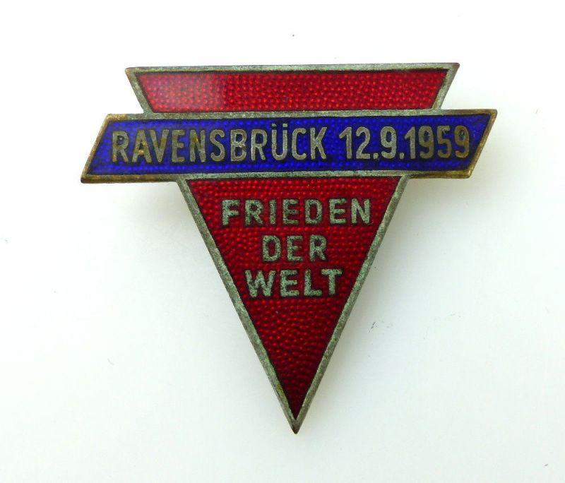#e2350 Einweihung der Gedenkstätte 12.9.1959 Frieden der Welt DDR Abzeichen