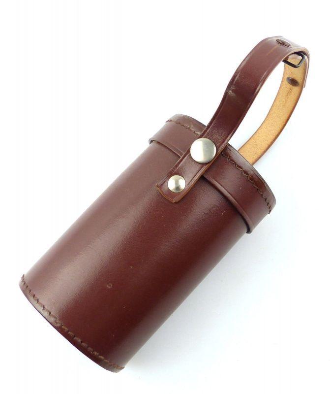 E9979 Braune Leder Tasche Köcher für Monokular zB Carl Zeiss Jena 6x30 und 8x30