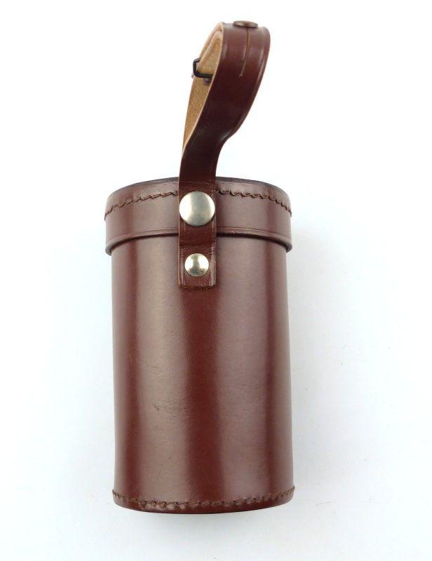 E9978 Braune Leder Tasche Köcher für Monokular zB Carl Zeiss Jena 6x30 und 8x30