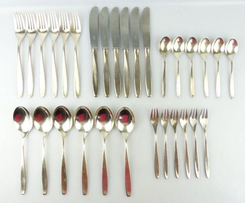 30 teiliges WMF Besteck in 90er Silberauflage e1848