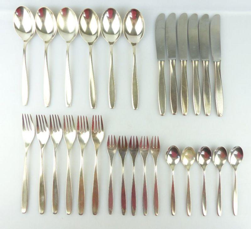 28 teiliges WMF Besteck in 90er Silberauflage e1847