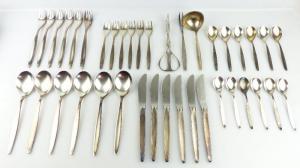 39 teiliges WMF Besteck in 90er Silberauflage e1846