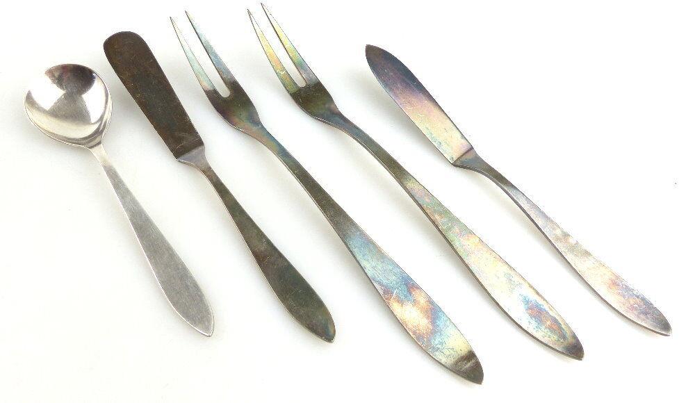 5 original alte WMF Vorleger in 90er Silberauflage e1841
