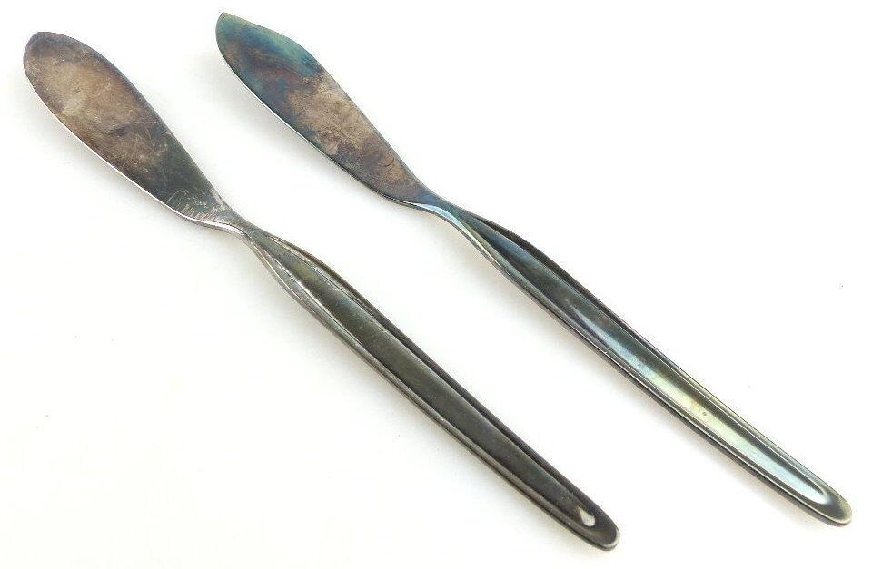 2 original alte WMF Vorleger /Vorlegemesser in 90er Silberauflage e1840